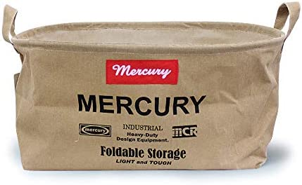 (マーキュリー) MERCURY キャンバスオーバルバケツ M MECAOBM Canvas Bucket アメリカン雑貨 洗濯カゴ 収納 おもちゃ箱 ゴミ箱 インテリア 折りたたみ ランドリーバケツ