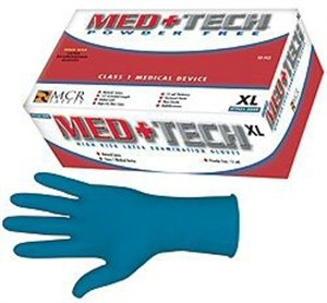 "Med+Tech, Medical Grade, 11 Mil, 12"", High Risk Blue, NFPA - 5049L"
