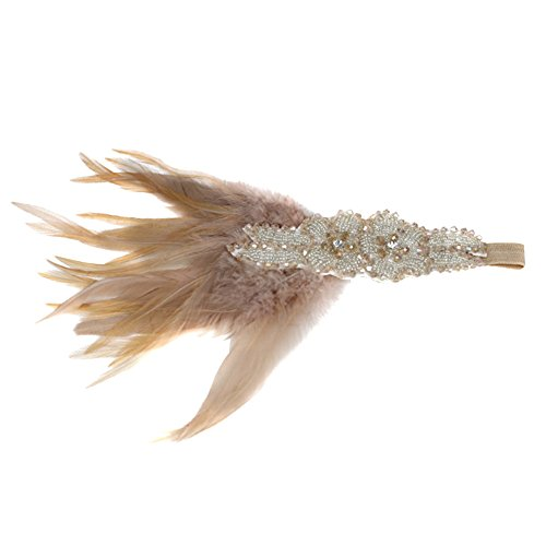 Auranso Peacock Feather Hairclip Fascinator Hair Pin Rhinestones Headband Wedding Party Girls Women