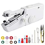Handheld Sewing Machine Mini Cordless Handheld Electric Sewing Machine for Fabric, Clothing, Kids Cloth Home Travel Quick Repairing with 18 Accessories, White