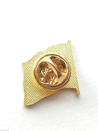 Roumanie Drapeau national plaqué or avec Pin's (épinglette Badge en émail