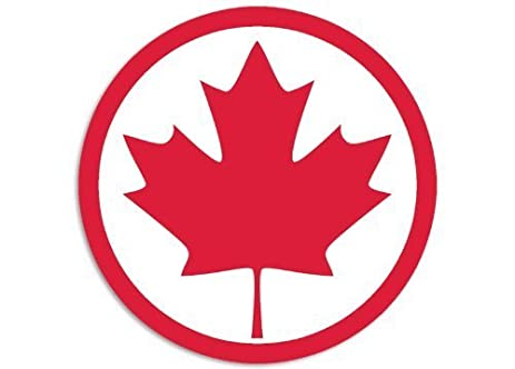 Amazoncom NI Canada Round Maple Leaf Decal Sticker - Vinyl decal stickers canada