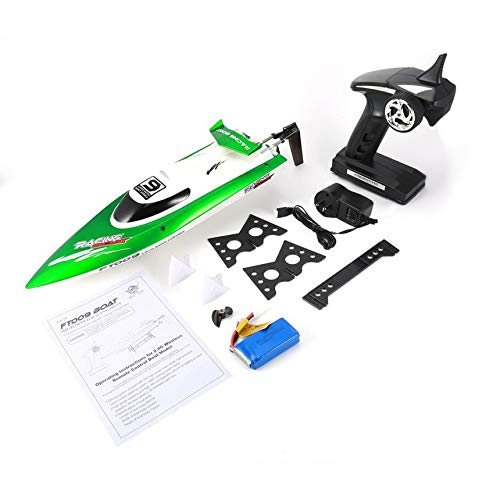 Feilun FT009 2.4G 4CH RC Racing Boat 30km/h Super Speed Electric RC Boat Toy Green ()