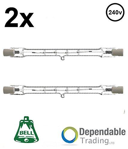 2x 120w = 150w 118mm Energy Saving Linear Tungsten Halogen (BELL 03843) R7s