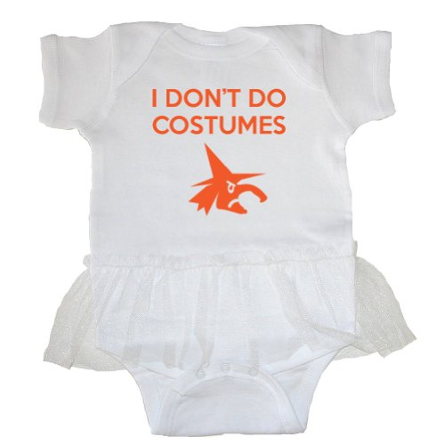 [Festive Threads I Don't Do Costumes (Witch) Baby Tutu Bodysuit (White, 24 Months)] (Girls Festive Witch Costumes)