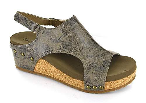 Corkys Volta Wedge Sandal (9, Brown ()