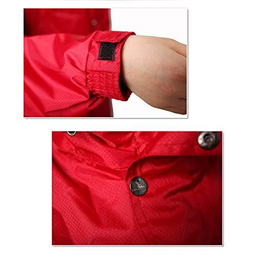 Costume Couple Impermable Bas Cyan lectrique Haut De Vlo XXL Red Moto Rembourr Loisirs en Nouveau Poncho Geyao Mode Color Et Taille gEwqSE5