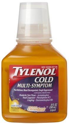 Tylenol Cold Multi-Symptom Daytime Non-Drowsy Liquid-CitrusBurst-8 oz (Quantity of 4)