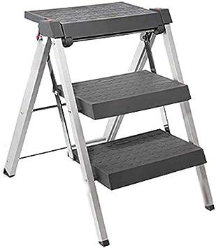 GBX Taburete Plegable Fácil Y Multifunción, Escalera Plegable Taburete de Cocina Taburete de 3 Escalones Escalera Multiusos Escalera Doméstica con Cierre de Seguridad Taburete: Amazon.es: Bricolaje y herramientas