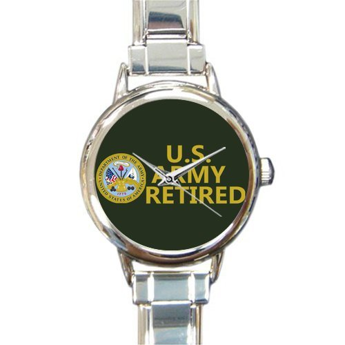 Hot Sale Watch US Army Retired Round Italian Charm stainless steel Watch