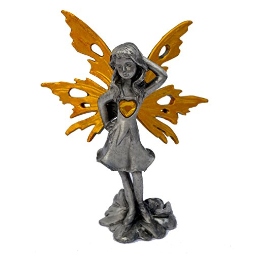 Pixie Glare Pewter Fairy Figurine Collectible Statue. Care Fairy 3