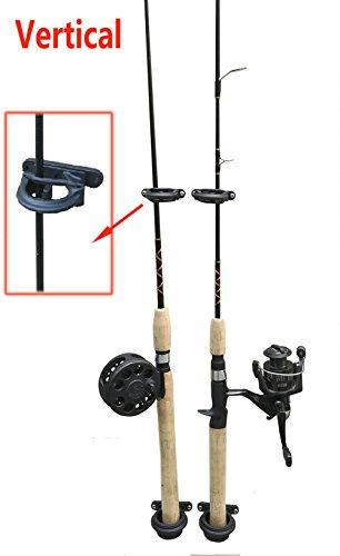 Brocraft (Set of 2) Fishing Wall Rod Holders/Fishing Rod Storage -Black