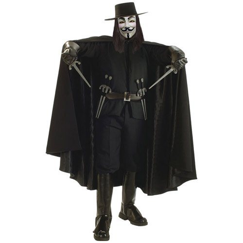 V Of Vendetta Costume (Rubie's Costume Co Dlx. V For Vendetta Cape Costume)