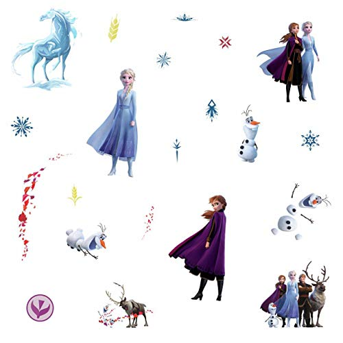 RoomMates - RMK4075SCS Disney Frozen 2 Character Peel and Stick Wall Decals | 21 Wall Stickers | Elsa, Anna, Olaf… 4