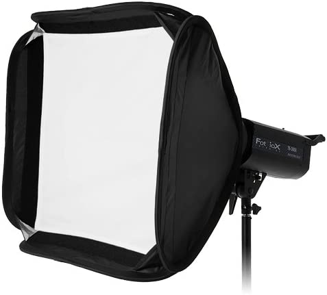 Fotodiox Pro 20x20 Foldable Softbox PLUS Grid M300 Eggcrate for Studio Strobe//Flash with Soft Diffuser and Dedicated Speedring Insert M500 Bare Tube Head 2107FC Strobe Flash Light for Novatron M Series Monolight M150
