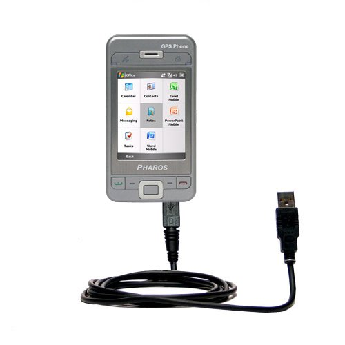 Classic Straight USB Cable for the Pharos PTL600 with Power Hot Sync and Charge Capabilities - Uses Gomadic TipExchange Technology