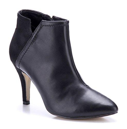 Schuhtempel24 Damen Schuhe Klassische Stiefeletten Stiefel Boots Stiletto 9 cm Schwarz