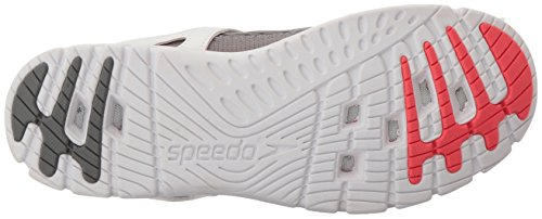 Speedo Womens Le Sillage Sportif De Leau Chaussure Gris / Rose Fluo