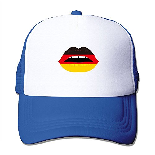 Z-YY Smile Lip Germany Flag Unisex Mesh Hat Adjustable Sports Baseball Cap