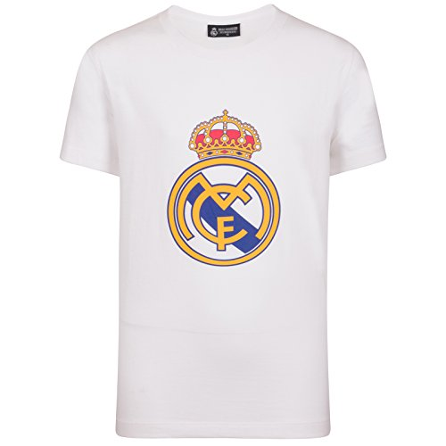 Real Madrid Official Football Gift Mens Crest T-Shirt White XXL