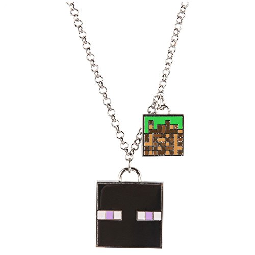 JINX Minecraft Enchanted Enderman Charm Necklace for Teen Girls and Women ()