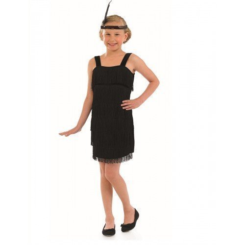 Extra Large Black Girls Flapper Costume (Flapper Girls 1920)