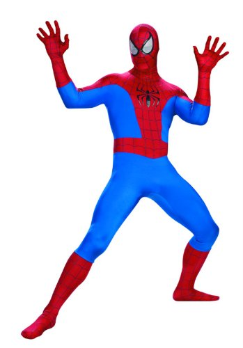 Disguise Men's Marvel Spider-Man Rental Costume, Blue/Red, X-Large -