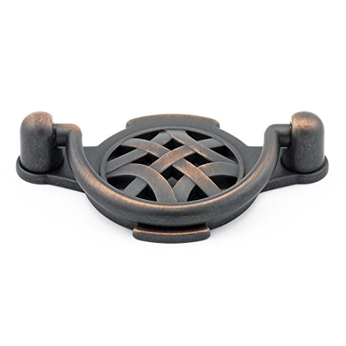 (Richelieu Hardware - BP2381964BORB - Traditional Metal Pull - 2381 - 2 17/32 in (64 mm) - Brushed Oil-Rubbed Bronze  Finish)