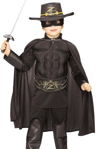 Kids Halloween NEW Boy Zorro Childrens Costume Boys Medium (5-7 years)