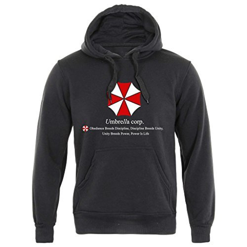 Sudadera con capucha con diseño de Resident Evil Umbrella Corp, talla S a