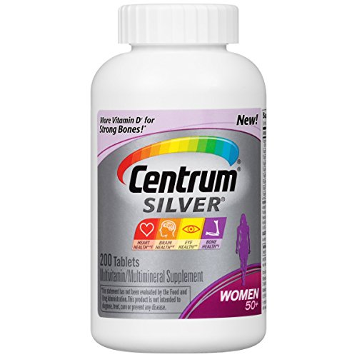 Centrum Silver Women Multivitamin / Multimineral Supplement Tablet, Vitamin D3, Age 50+ (200 Count)
