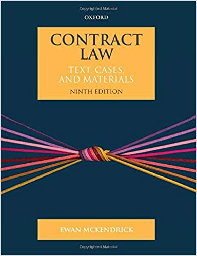 Contract Law: Text, Cases, and Materials, 9th Edition - Original PDF