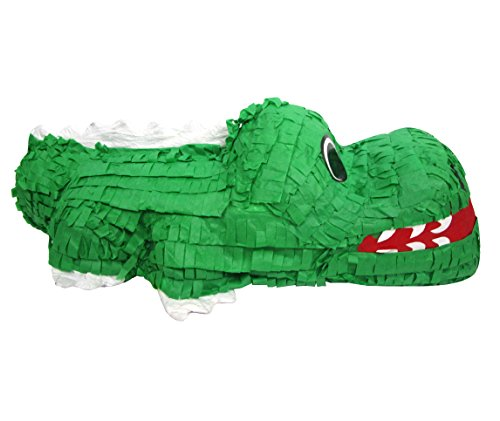- Pinatas Crocodile, Game, Centerpiece Decoration and Photo Prop for Jungle or Zoo Party Theme