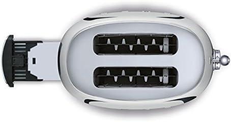 Smeg TSF01SSUS 50's Retro Style Aesthetic 2 Slice Toaster, Chrome