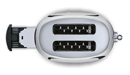 Smeg TSF01SSUS 50's Retro Style Aesthetic 2 Slice Toaster, Chrome