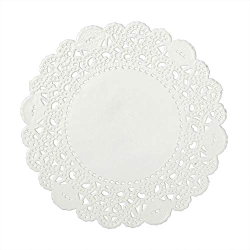 Royal 4 Inch Disposable Paper Lace Doilies, Package of 1000]()
