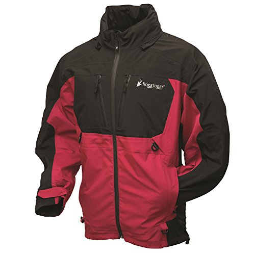 - Frogg Toggs Men's Pilot Frogg Guide Jacket, Red/Black, XX-Large