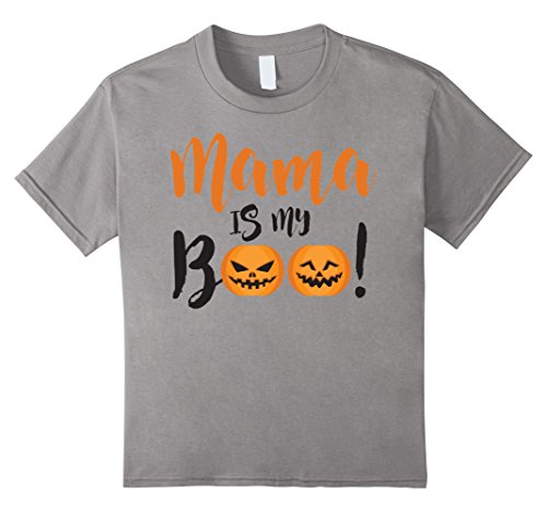 Mama's Boy Costume (Kids Mama Is My Boo Funny Halloween Toddler Tshirt - Perfect Gift 4 Slate)