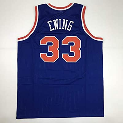 8200bd7a03e Unsigned Patrick Ewing New York Blue Custom Stitched Basketball Jersey Size  Men s XL New No Brands Logos