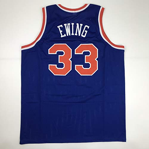 23dd0648f9e Unsigned Patrick Ewing New York Blue Custom Stitched Basketball Jersey Size  Men's XL New No Brands