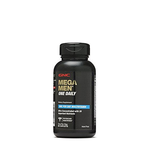 GNC Mega Men One Daily Multivitamin with 39 Important Nutrients – 60 Caplets