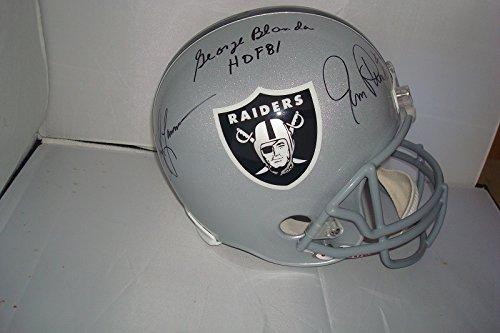 - Blanda, Plunkett, Lamonica Signed Oakland Raiders Riddell Helmet!