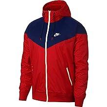 Nike Sportswear Windrunner (Loose Fit) Windbreaker Jacket (University Red/Blue Void/Sail, Medium)