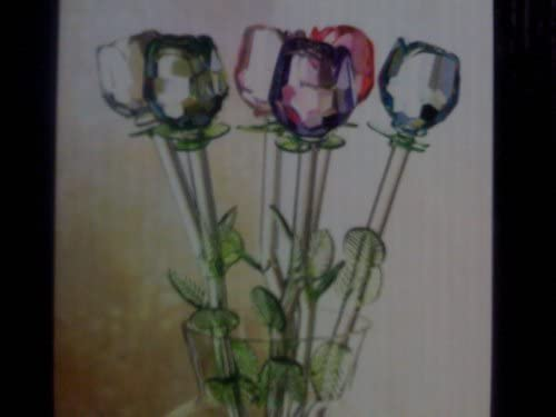SPRING BOUQET GLASS FLOWERS WITH A VASE