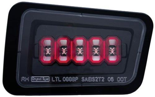 Hummer H2 Corner Lights - IPCW LEDT-343BPCB Bermuda Black Rear Bumper Light - Pair