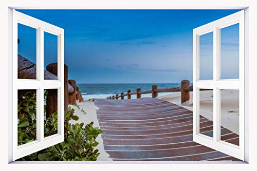 3D Windows Landscape Wall Mural Stickers Home Decor Prints P