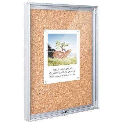 Economy Cork Bulletin Boards - Economy Enclosed Wall Mounted Bulletin Board Size: 3' H x 2' W x 0.17' D