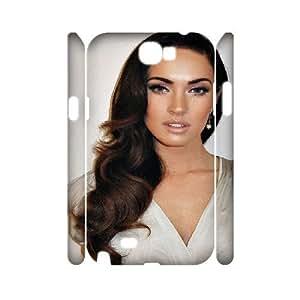 3d Samsung Galaxy Note 2casos Megan Fox viejo Hollywood pelo de la, luxury case for Samsung Galaxy Nota 2–[blanco] Kaktana