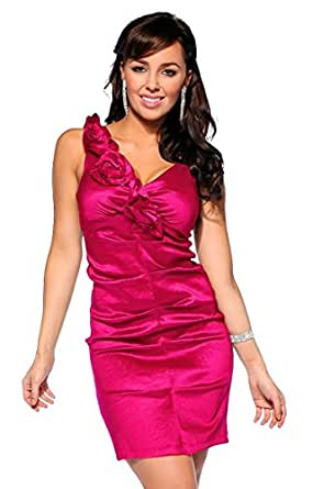 Designer Sleeveless Flounce Cocktail Party Evening Mini Dress