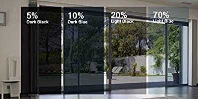 No Glue Privacy Dark Black Window Film G Greenfilm Static Cling Window Tint 5/% Easy DIY for Home and Residential and Automotive 24 x 82